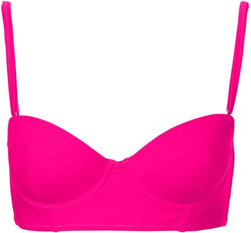 Hot Pink Longline Bikini Top