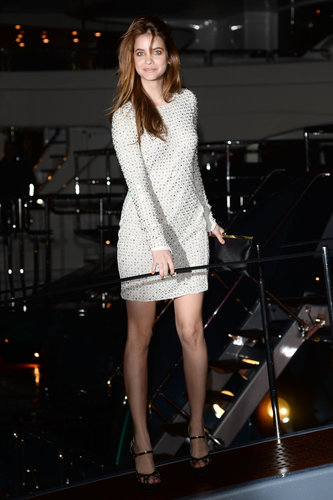 Barbara Palvin attended Roberto Cavalli's yacht party during the Cannes Film Festival on Wednesday.