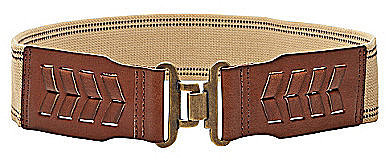 Fossil Leather-Front Stretch Belt