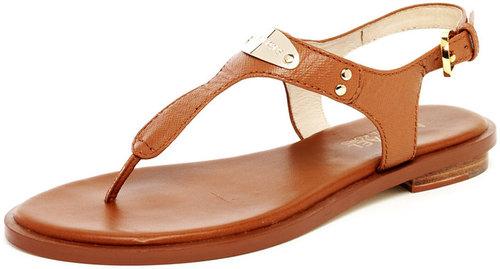 MICHAEL Michael Kors  Logo-Plate Leather Thong Sandal