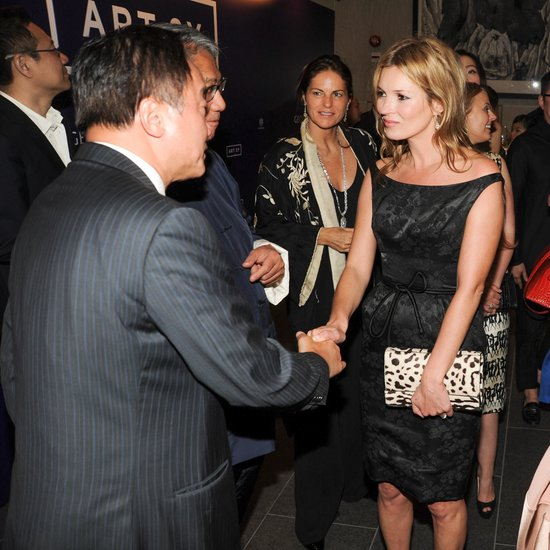 Kate Moss attended a Dior party as part of Hong Kong's Art Basel festivities.