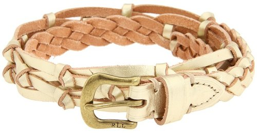 LAUREN Ralph Lauren - 3/4 inch Braided Belt (Gold) - Apparel