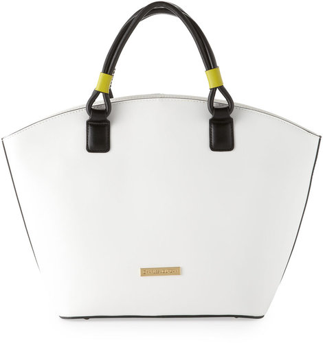 Charles Jourdan Bryn Rounded Zip Tote Bag, White