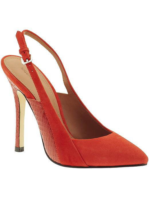 Sigerson Morrison, in my mind, is synonymous with New York style. His shoes are so sophisticated and he surely is not afraid of bold colors! The red suede snakeskin slingbacks may require you to save some extra dough, but they make it impossible not to feel sexy — worth every penny!  See more Style Shortcuts