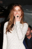 Model Barbara Palvin was in Cannes donning orange nails with bright eye makeup to match. L'Oreal's Colour Riche Eye Shadow Quad in Hollywood Icon and What Happens in Vegas ($8 each) were blended together for a bold eye look, while her nails were polished in Colour Riche Nail in L'Orange ($6).