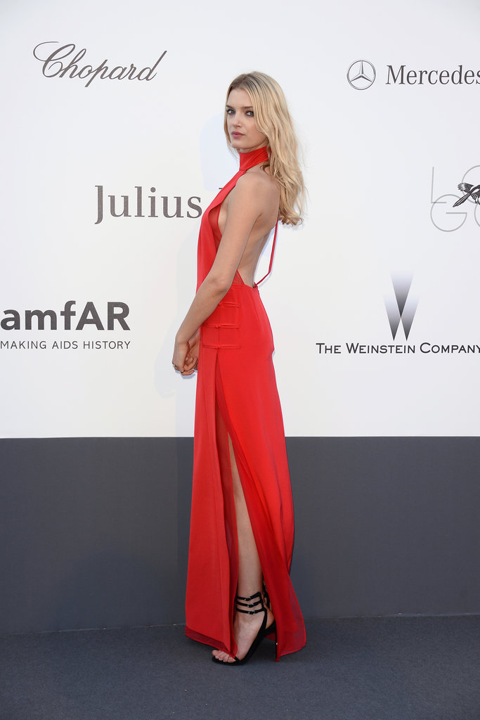 Lily Donaldson at the amfAR gala in Cannes.