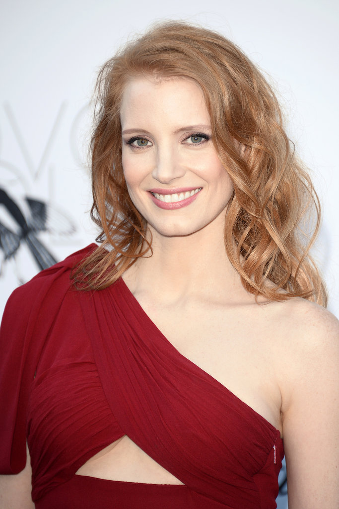 Jessica Chastain at the amfAR gala in Cannes.