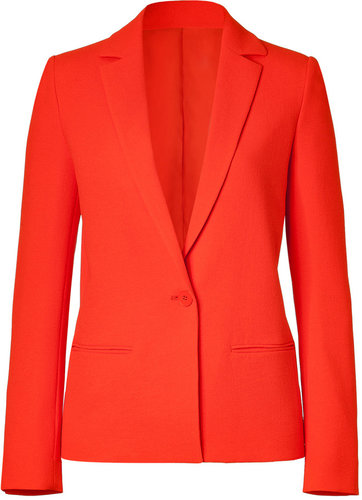 Cédric Charlier Neon Orange One Button Blazer