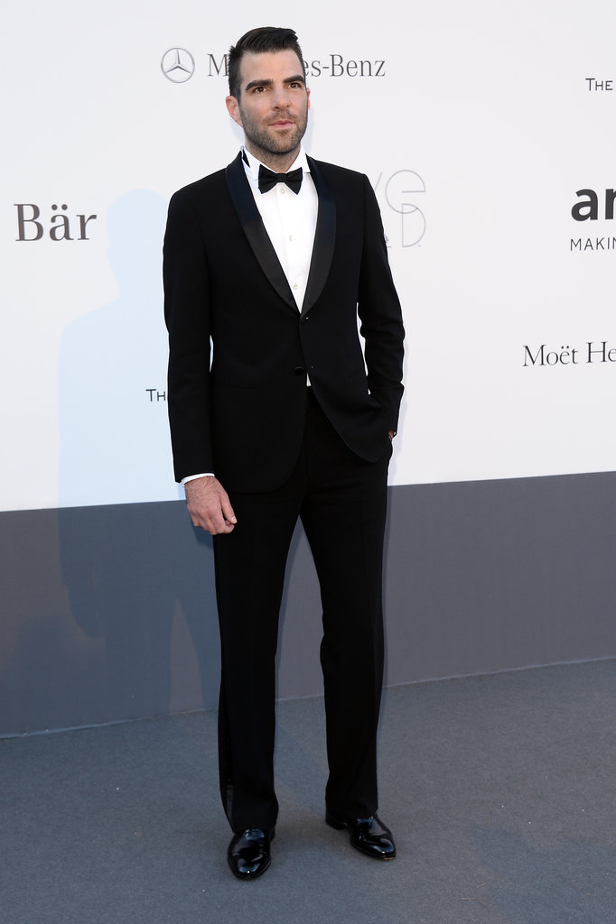 Zachary Quinto at the amfAR gala in Cannes.