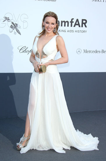 Kylie Minogue at the amfAR gala in Cannes.
