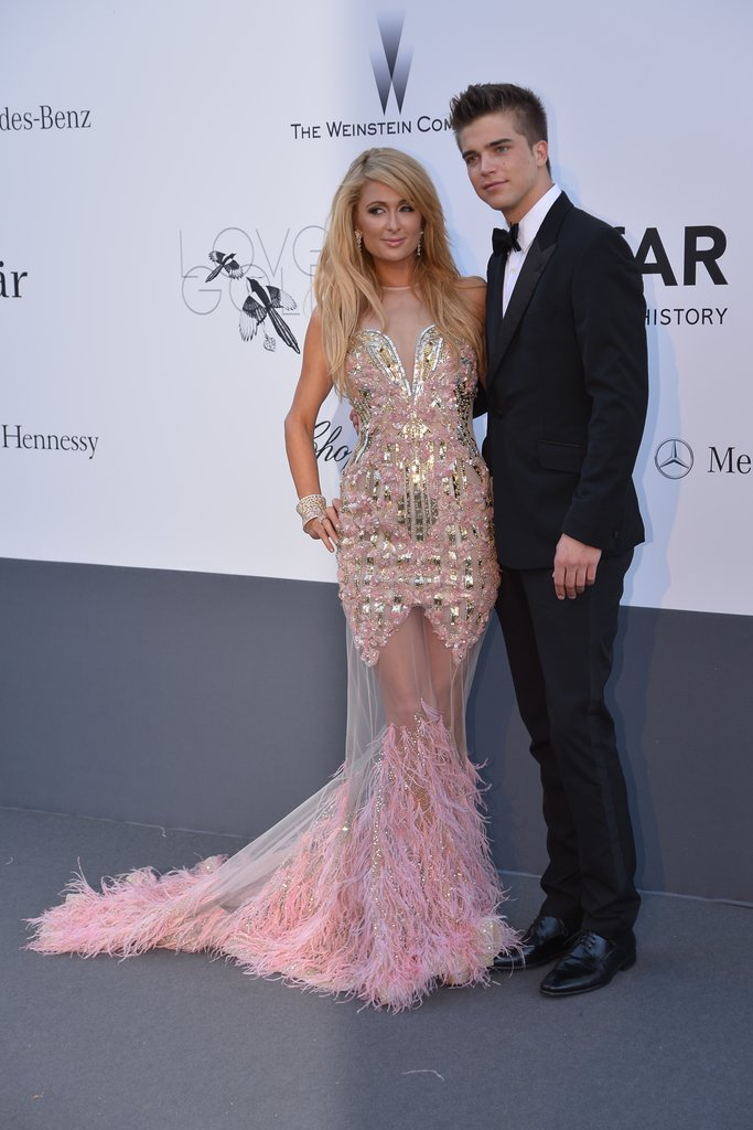 Paris Hilton and River Viiperi at the amfAR gala in Cannes.