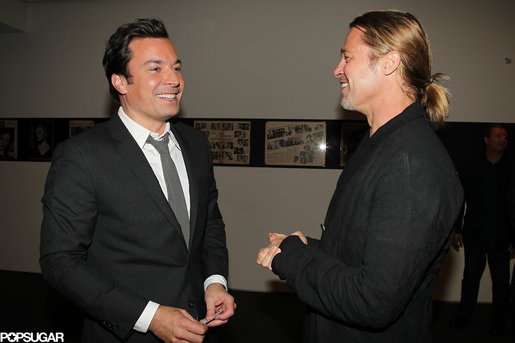 Jimmy Fallon joked with Brad Pitt at the special event.