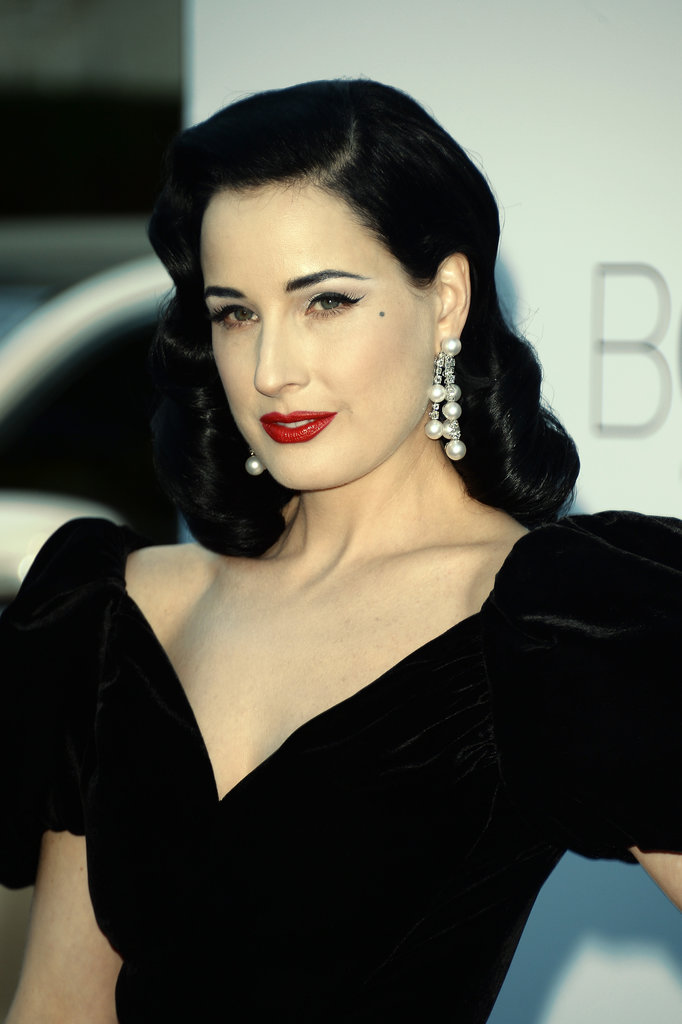 Dita Von Teese at the amfAR gala in Cannes.