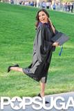 Eva Longoria posed in her graduation gown.