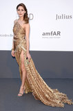 Olivia Palermo got in touch with her wild side in an animal-print Robert Cavalli gown — hello, thigh-high slit!