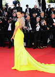 Selita Ebanks wore Gabriela Cadena at the Cannes premiere of Blood Ties.