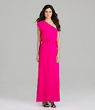 Gianni Bini Anya One-Shoulder Maxi Dress