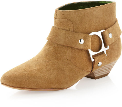 Belle by Sigerson Morrison Buckled Ankle Boot, Tobacco