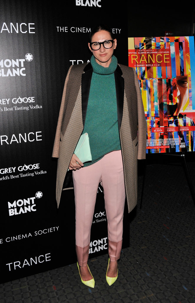 Colour block your Winter separates to inject some colour into those grey days, like Jenna Lyons.