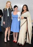 A professional matched set and Ferragamo pumps were just the ticket for an elegant lunch look with fellow jury members Lynne Ramsay and Vidya Balan.