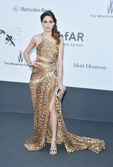 Olivia showed off her wild side in an animal-print Roberto Cavalli gown at amfAR's Cinema Against AIDS Gala at Cannes.