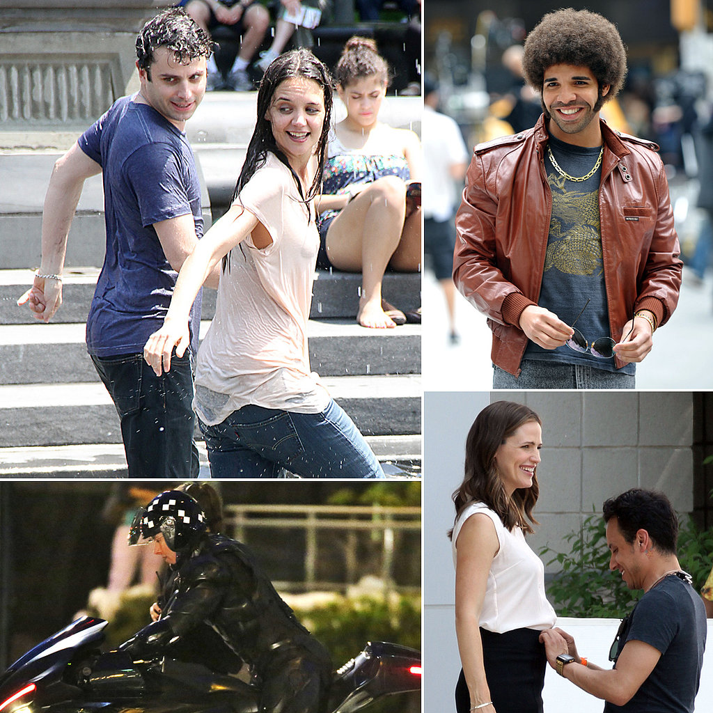 Katie Holmes, Drake, Jennifer Garner, and More Stars on Set