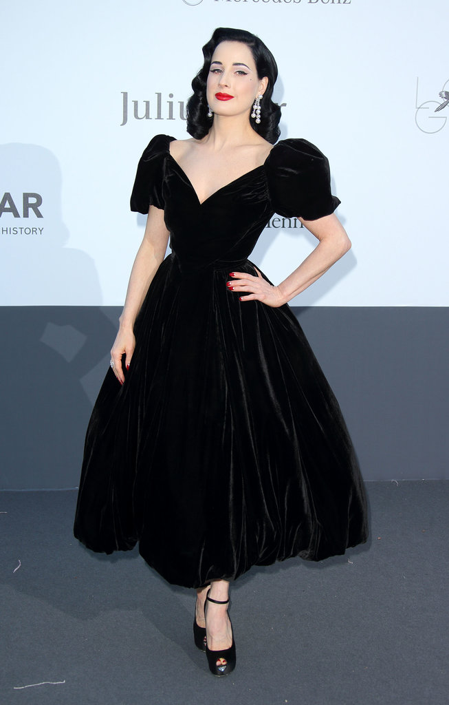 Dita von Teese at amfAR's 20th Annual Cinema Against AIDS gala in Cannes.