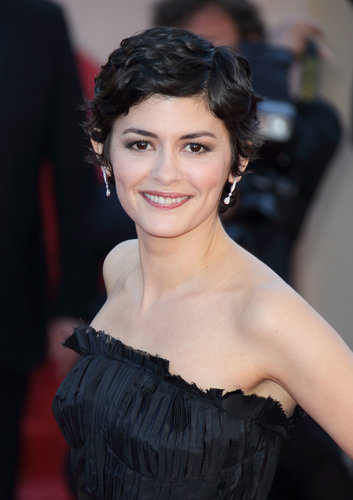 Audrey Tautou wore her signature pixie in a slightly waved style with natural makeup on the red carpet for La Vénus à la Fourrure.