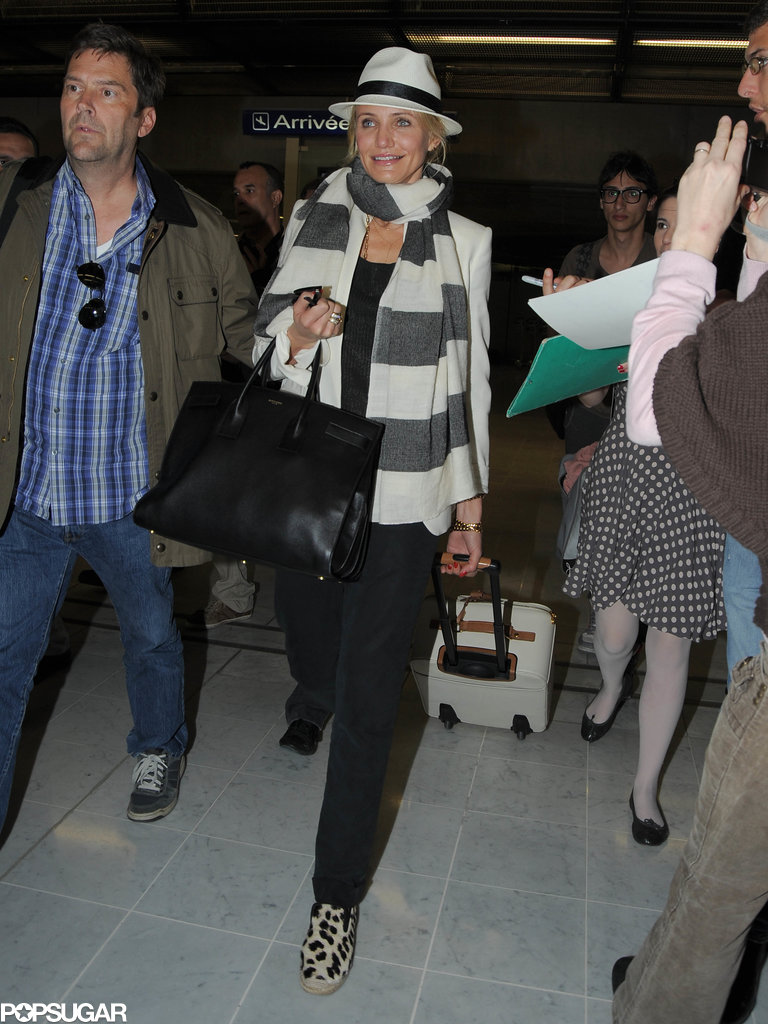 Cameron Diaz arrived at the Nice Airport in the South of France.