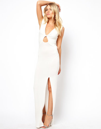 Love Maxi Dress With Twist Front and Cowl Back