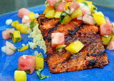 Spice-Crusted Salmon With Watermelon Salsa