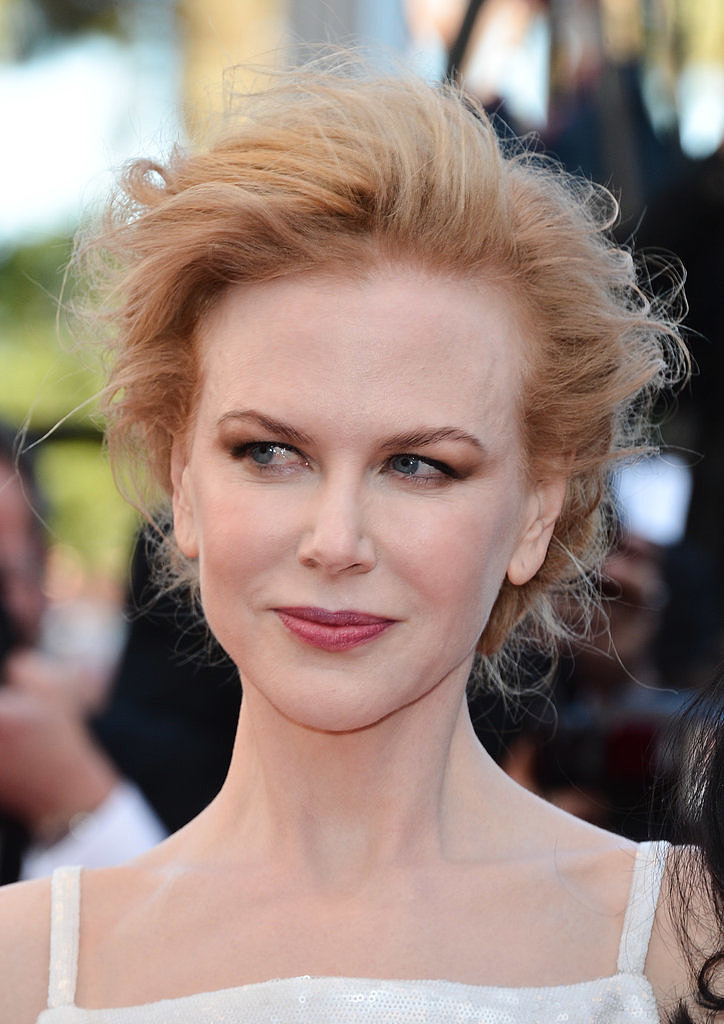 Nicole Kidman wore her hair up in a braided chignon paired with bronzed eyeshadow and winged eyeliner. Just wait till you see the back of her hair!