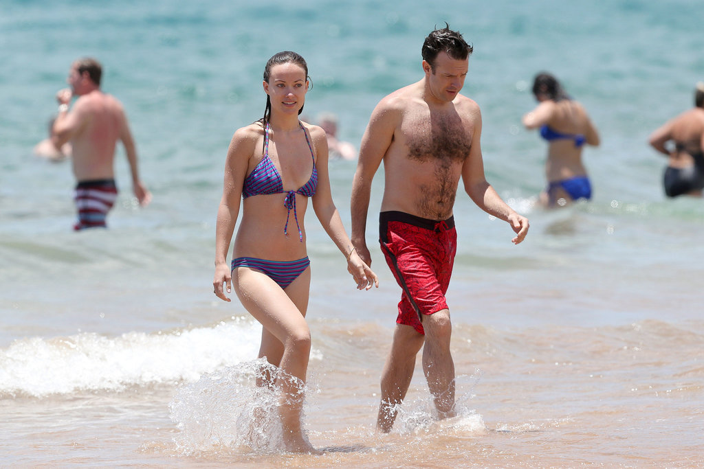 Olivia Wilde and Jason Sudeikis escaped to Hawaii and hit the beach on Sunday.
