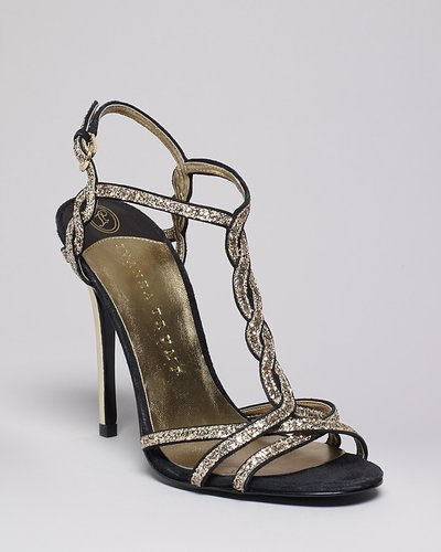 IVANKA TRUMP Braided T Strap Evening Sandals - Hara High Heel