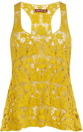 Yellow crochet vest top
