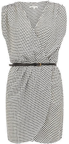 White square crossover dress