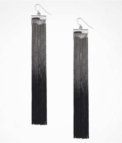 Wide Ombre Chain Fringe Earrings