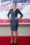 For a 2013 America's Got Talent event, Heidi fused elegance with edge in a leather moto-inspired Thomas Wylde dress. The zippered bodice allowed Klum to show just the right amount of skin, while the dress's long sleeves and demure hemline kept things classy. How gorgeous is that midnight-blue hue?