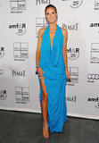One word comes to mind after seeing Heidi Klum working this plunging, aqua-blue Michael Kors halter at the 2011 amfAR Inspiration Gala: va-va-voom.