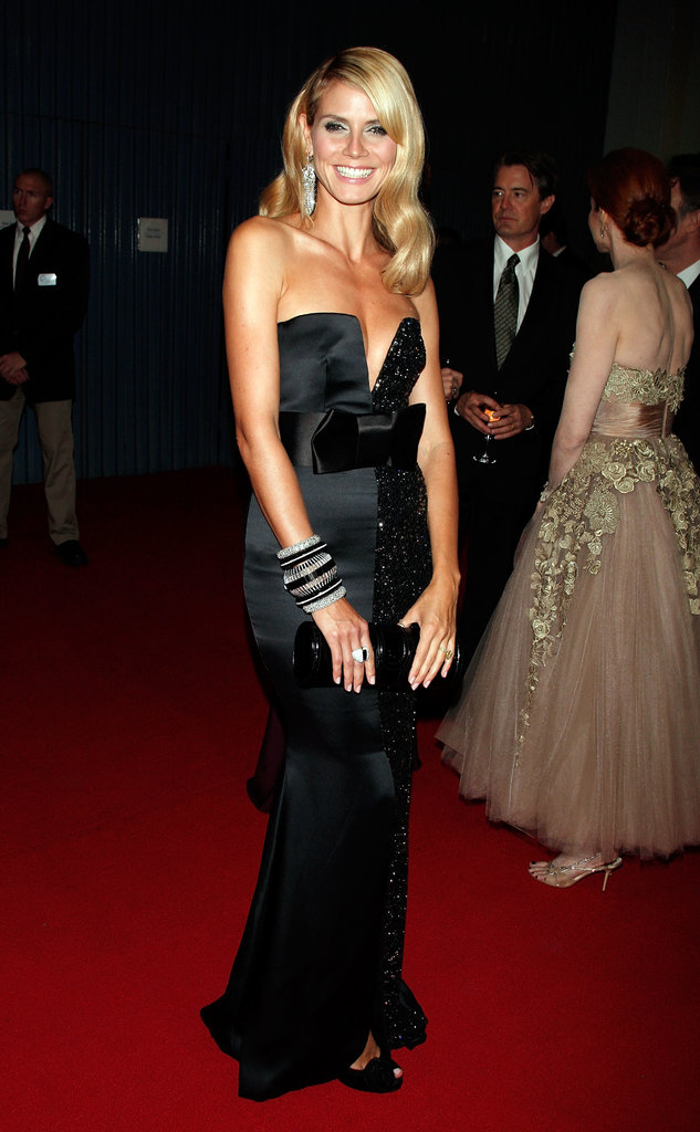 Heidi's 2008 Emmy Awards Armani Privé gown housed the perfect mix of seduction and sophistication, split between luxe satin and party sequins all wrapped up with a perfect bow.