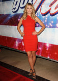 God bless America! What's not to love about the blazing, body-hugging, one-shoulder Preen dress Klum donned at the season eight premiere of America's Got Talent?