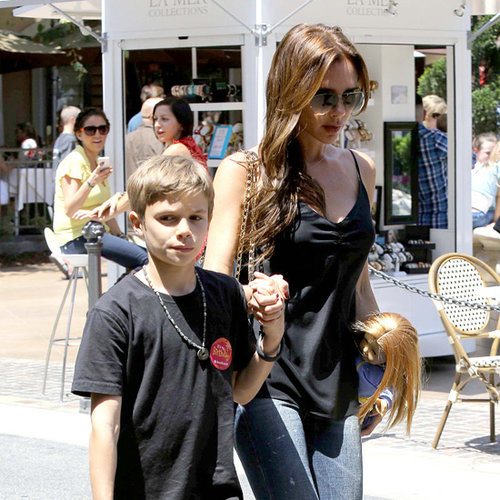 Victoria Beckham With Children Shopping at The Grove in LA