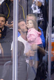 David Beckham kissed Harper.