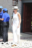 Minnie Driver wore an all-white ensemble.