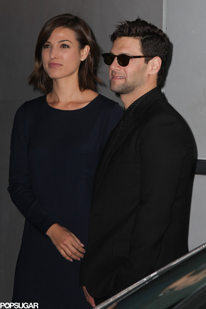 Justin Bartha was joined by his fiancée, Lia Smith, for The Hangover Part III's Paris premiere.