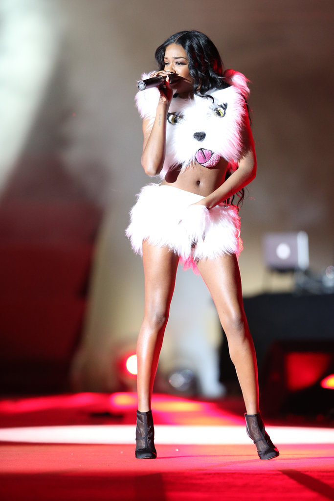 Azealia Banks on stage at the 2013 Life Ball in Vienna, Austria.