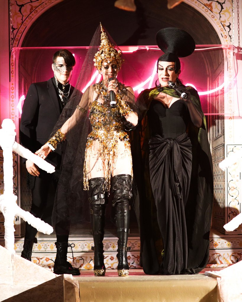 Jordan Lee, Susanne Bartsch, and Joey Arias at the 2013 Life Ball in Vienna, Austria.  Source: Benjamin Lozovsky/BFAnyc.com