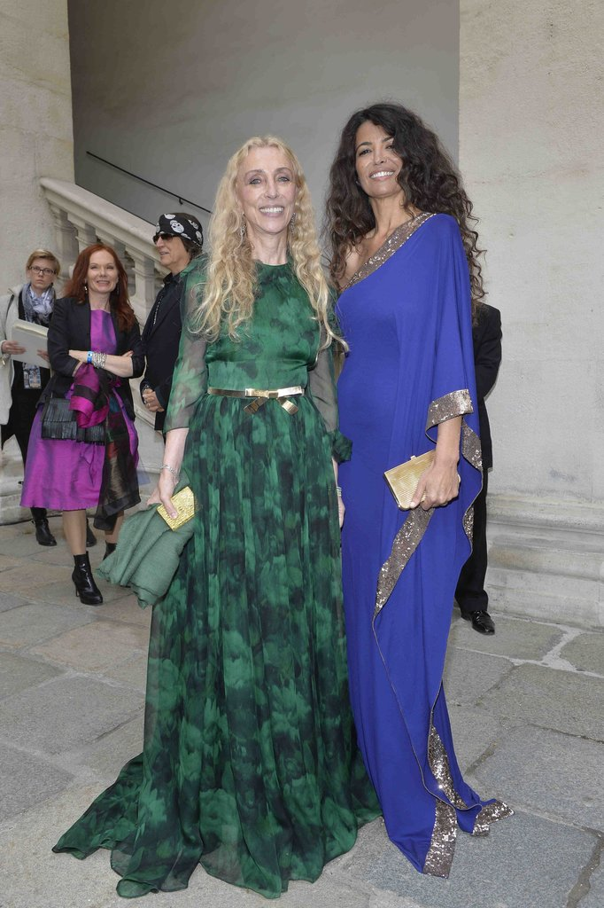 Vogue Italia editor in chief Franca Sozzani and model Afef Jnifen (wearing Roberto Cavalli) at the 2013 Life Ball in Vienna, Austria.  Photo courtesy of Roberto Cavalli