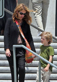 Julia Roberts chaperoned her son Henry's field trip to the National History Museum in LA.