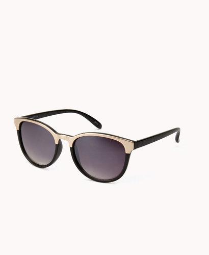 FOREVER 21 F6993 Mirrored D-Frame Sunglasses